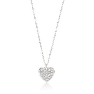 Pave Heart Pendant - CLEAR