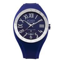 Boxer Men's Blue Rubber Quartz Watch