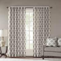 Madison Park Oriana Woven Rod Pocket Curtain Panel