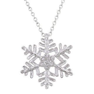 Large Snowflake Pendant - CLEAR