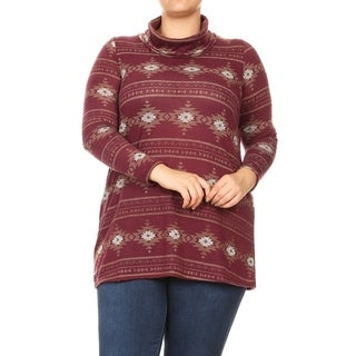 Women's Plus Size Cowl Neck Sweater Tunic