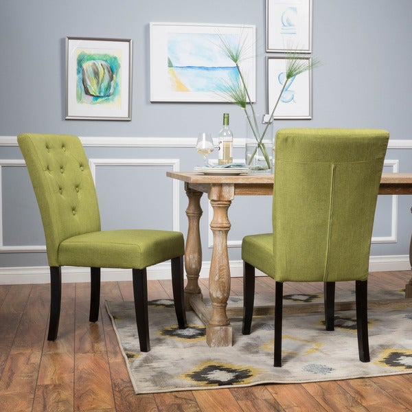 Green Dining Room Chairs: Shop Nyomi Fabric Dining Chair In Apple Green (Set Of 2