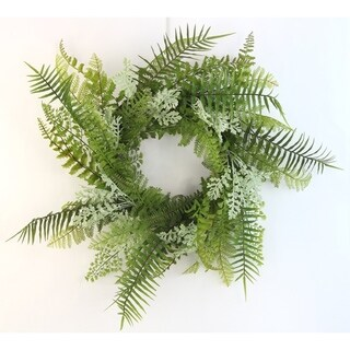 "18"" Artificial Fern Wreath For Home office Front Door Wreath, Wall Hanging Arrangement Decoration"