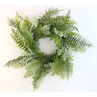 "18"" Artificial Fern Wreath For Home office Front Door Wreath, Wall Hanging Arrangement Decoration"
