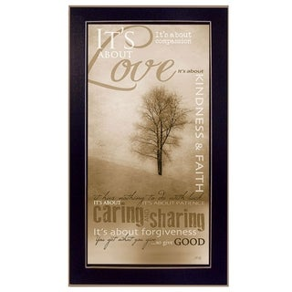 """Its About Love"" By Marla Rae, Printed Wall Art, Ready To Hang Framed Poster, Black Frame"