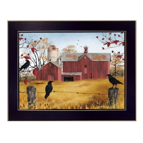 """""""Autumn Gold"""" By Billy Jacobs, Ready to Hang Framed Wall Art, Black Frame"""