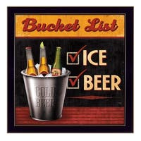 """""""Bucket List"""" By Mollie B., Printed Wall Art, Ready To Hang Framed Poster, Black Frame"""