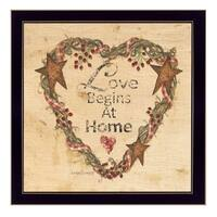 """Love Begins at Home"" By Linda Spivey, Printed Wall Art, Ready To Hang Framed Poster, Black Frame"