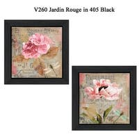"""""""Jardin Rouge"""" Collection By Color Bakery, Printed Wall Art, Ready To Hang Framed Poster, Black Frame"""