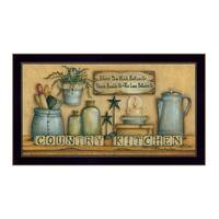 """""""Country Kitchen"""" By Mary June, Printed Wall Art, Ready To Hang Framed Poster, Black Frame"""