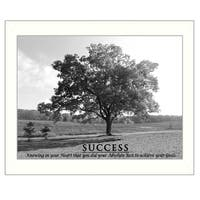 """""""Success"""" By Trendy Decor4U, Printed Wall Art, Ready To Hang Framed Poster, White Frame"""