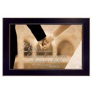 """""""To Have and To Hold"""" By Justin Spivey, Printed Wall Art, Ready To Hang Framed Poster, Black Frame"""