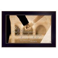 """To Have and To Hold"" By Justin Spivey, Printed Wall Art, Ready To Hang Framed Poster, Black Frame"