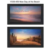 """""""At the Beach"""" Collection By Lori Deiter, Printed Wall Art, Ready To Hang Framed Poster, Black Frame"""