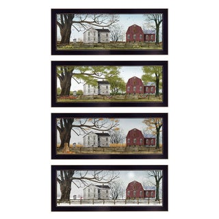 """Four Seasons Collection II"" Collection By Billy Jacobs, Printed Wall Art, Ready To Hang Framed Poster, Black Frame"