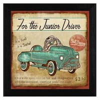 """Junior Driver"" By Mollie B., Printed Wall Art, Ready To Hang Framed Poster, Black Frame"