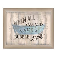 """""""Take a Bubble Bath"""" By Debbie DeWitt, Printed Wall Art, Ready To Hang Framed Poster, Beige Frame"""