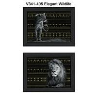 """Elegant Wildlife"" Collection By Dee Dee, Printed Wall Art, Ready To Hang Framed Poster, Black Frame"