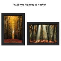"""Highway to Heaven"" Collection By Martin Podt, Printed Wall Art, Ready To Hang Framed Poster, Black Frame"