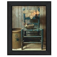 """""""This Old Chair"""" By Susan Boyer, Printed Wall Art, Ready To Hang Framed Poster, Black Frame"""
