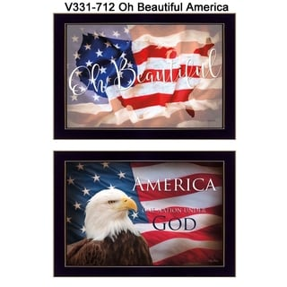 """Oh Beautiful America"" by Lauren Rader Printed Framed Wall Art"