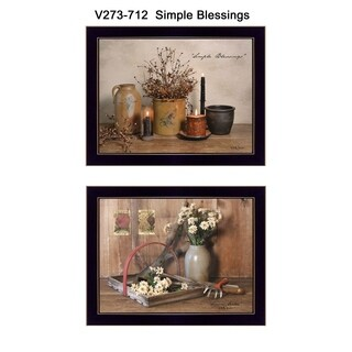 """""""Simple Blessings"""" Collection By Billy Jacobs, Printed Wall Art, Ready To Hang Framed Poster, Black Frame"""