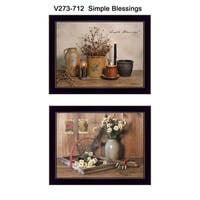 """Simple Blessings"" Collection By Billy Jacobs, Printed Wall Art, Ready To Hang Framed Poster, Black Frame"