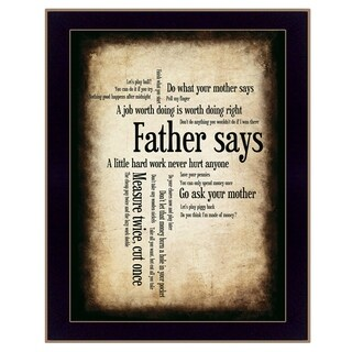 """Father Says"" By Susan Boyle, Printed Wall Art, Ready To Hang Framed Poster, Black Frame"