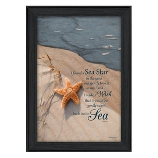 """""""The Wish"""" By Robin-Lee Vieira, Printed Wall Art, Ready To Hang Framed Poster, Black Frame"""