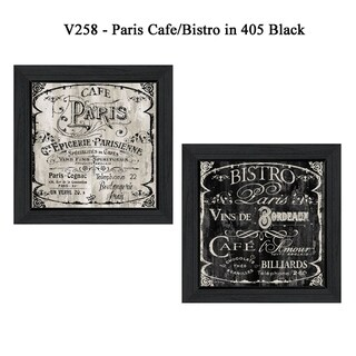 """""""Paris Cafe/Bistro"""" Collection By Color Bakery, Printed Wall Art, Ready To Hang Framed Poster, Black Frame"""