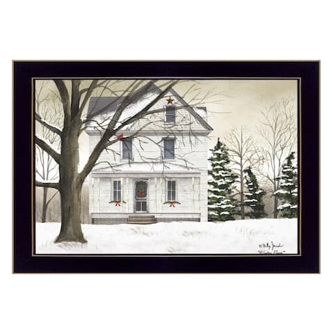 """""""Winter Porch"""" By Billy Jacobs, Ready to Hang Framed Wall Art, Black Frame"""