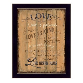 """""""Love"""" By Debbie DeWitt, Printed Wall Art, Ready To Hang Framed Poster, Black Frame"""