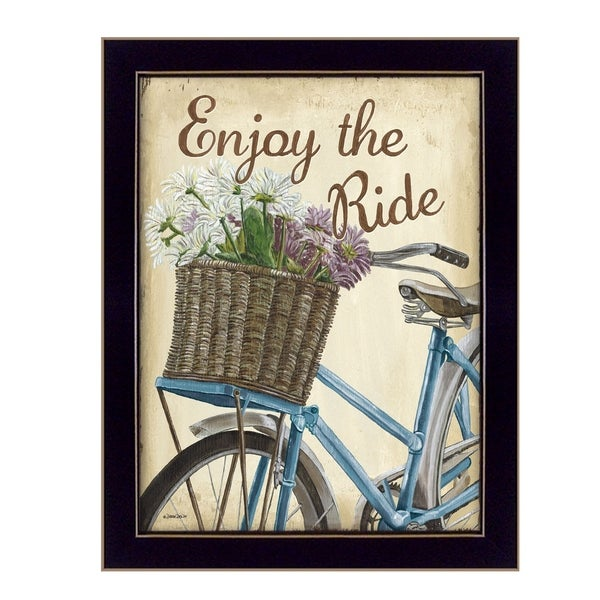 """Enjoy the Ride"" By Debbie DeWitt, Printed Wall Art, Ready To Hang Framed Poster, Black Frame"