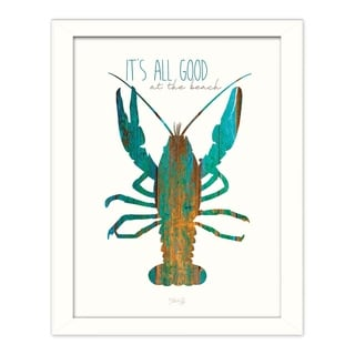 """It's All Good at the Beach"" by Marla Rae Printed Framed Wall Art"