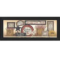 """""""Sign Collector"""" By Linda Spivey, Printed Wall Art, Ready To Hang Framed Poster, Black Frame"""
