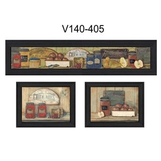"""""""Kitchen"""" Collection By Pam Britton, Printed Wall Art, Ready To Hang Framed Poster, Black Frame"""