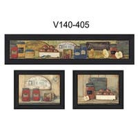"""Kitchen"" Collection By Pam Britton, Printed Wall Art, Ready To Hang Framed Poster, Black Frame"