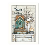 """""""Home Sweet Home"""" By Mary June, Printed Wall Art, Ready To Hang Framed Poster, White Frame"""