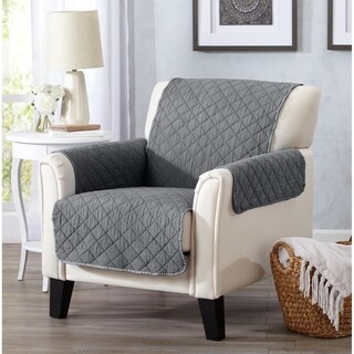 Home Fashion Designs Laurina Stonewashed Reversible Chair Protector