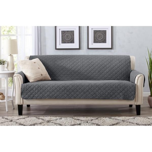 Home Fashion Designs Laurina Stonewashed Reversible Sofa Protector