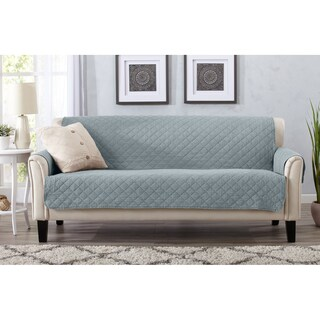 Home Fashion Designs Laurina Stonewashed Reversible Sofa Protector
