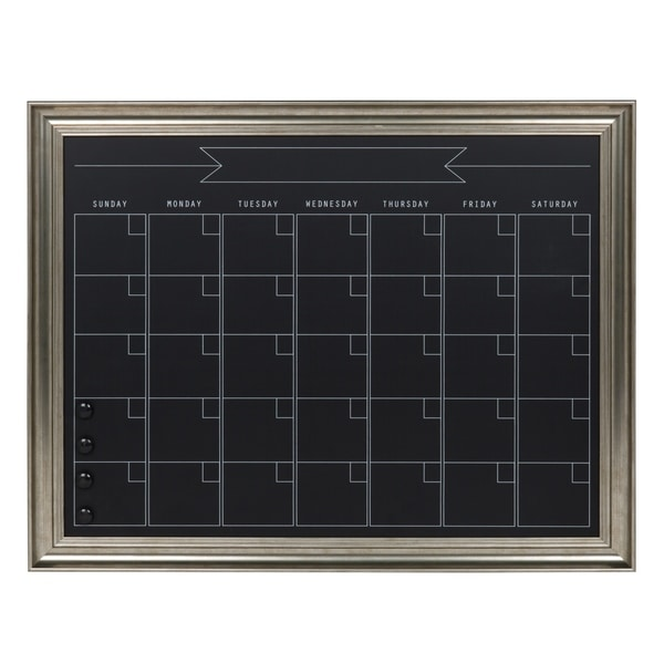 Chalkboard Calendar Framed : Shop designovation macon framed magnetic chalkboard