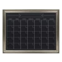 DesignOvation Macon Framed Magnetic Chalkboard Monthly Calendar
