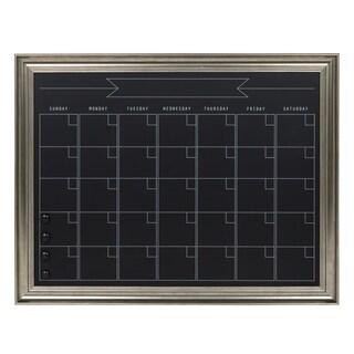 DesignOvation Macon Framed Magnetic Chalkboard Monthly Calendar