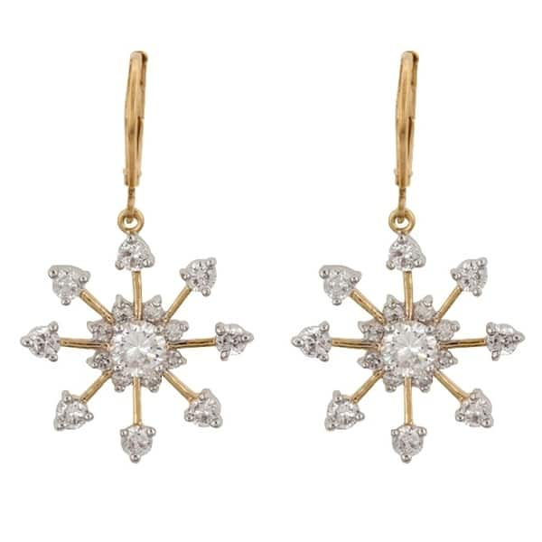 04fbd4f6c Shop Golden Snowflake Drops - Clear - On Sale - Free Shipping On Orders  Over $45 - Overstock - 17126957