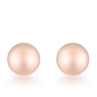 Tanya Rose Gold Sphere Stud Earrings