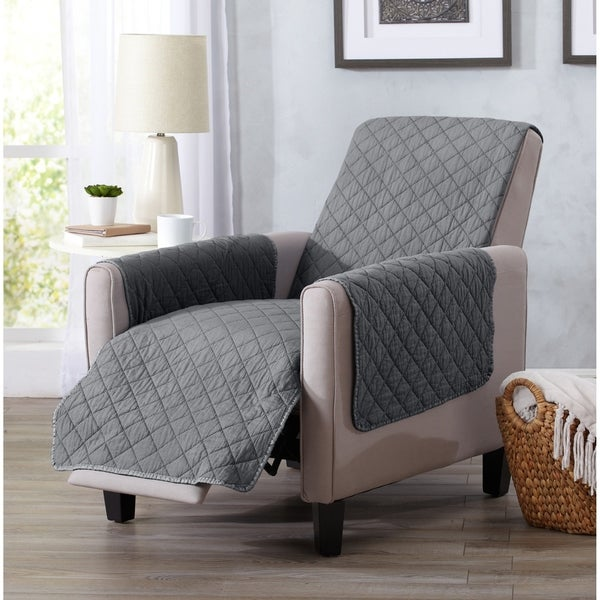 Home Fashion Designs Laurina Stonewashed Reversible Recliner Protector