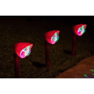 Alpine Corporation Kaleidoscope Christmas Garden Pathway LED Lights (Set of 3)