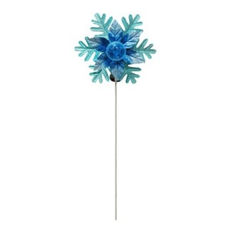 Alpine Corporation Solar Rotating Christmas Flower with LED Glass Ball Stake