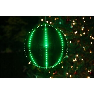 Alpine Corporation Christmas Plug-in Ball Ornament with 240 Chasing LED Lights
